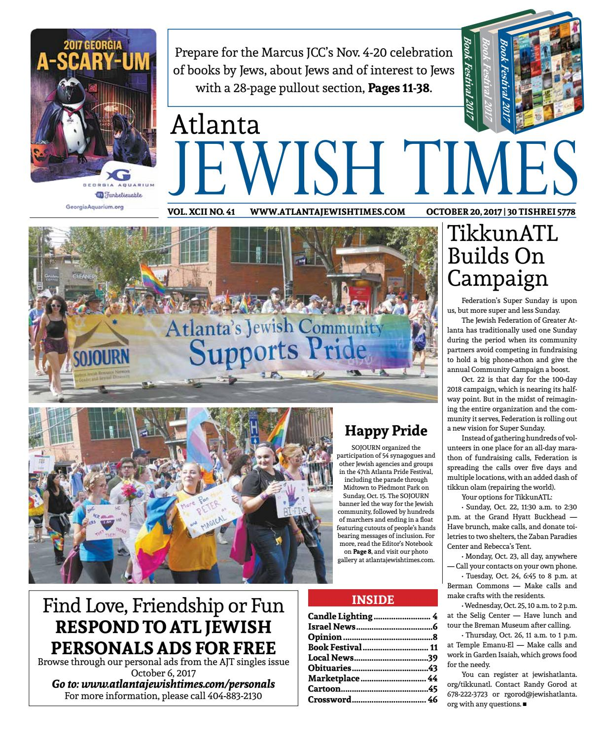 marcus jewish personals Marcus jewish community center of atlanta, dunwoody, ga starts at $1000 • on goldstar share save marching to zion conference marching to zion conference  speed dating event in atlanta - singles night event speed dating event in atlanta - singles night event tue, aug 28, 5:30pm the pinewood, atlanta, ga starts at $2700.