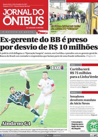 Jornal do Ônibus de Curitiba - 18 10 17 by Editora Correio ... c5574078bfb53