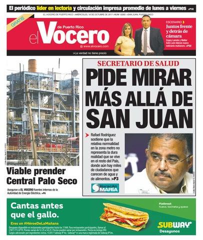 Edición del 18 de octubre de 2017 by El Vocero de Puerto Rico - issuu