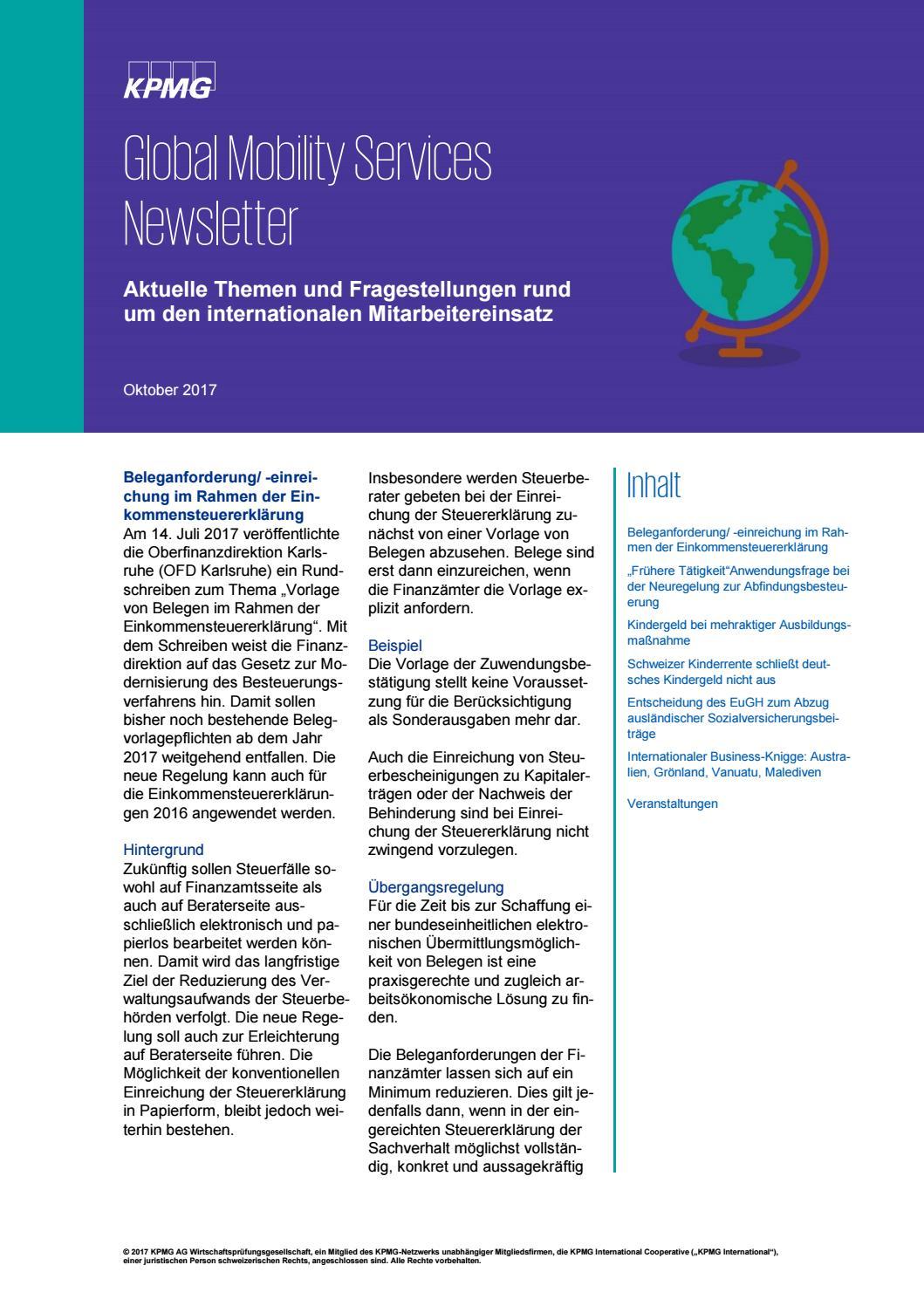 GMS Newsletter Oktober 2017 by KPMG.DE - issuu