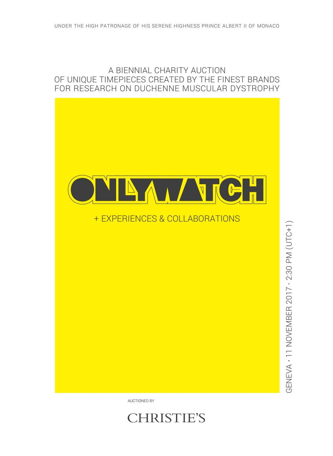 b0e9cb06b2a ONLY WATCH 2017  the official catalogue by monacoyachtshow - issuu