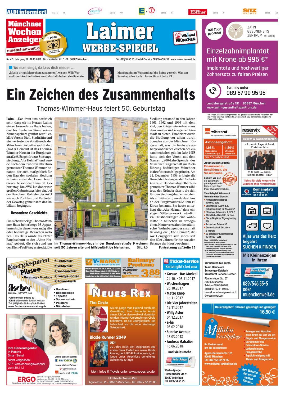 5b4b403d825b6 KW 42-2017 by Wochenanzeiger Medien GmbH - issuu