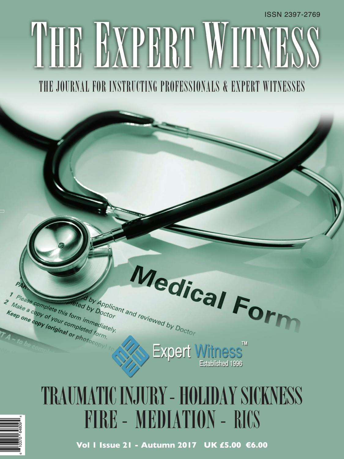 The Expert Witness By ExpertWitness Issuu - Medical expert witness invoice template