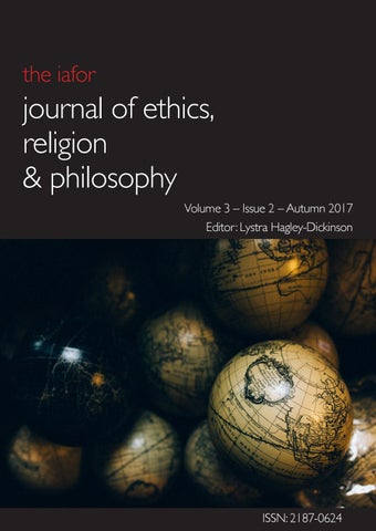 IAFOR Journal of Ethics, Religion & Philosophy by IAFOR - issuu