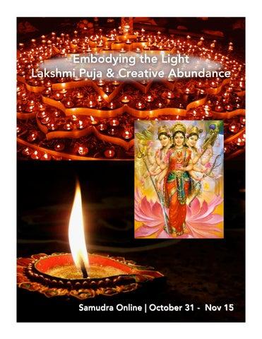 Lakshmi sadhana nov2017pptx by Shiva Rea - issuu