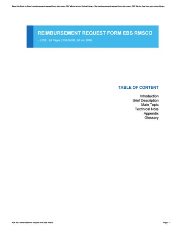 Reimbursement Request Form Ebs Rmsco By LellaAvavza  Issuu