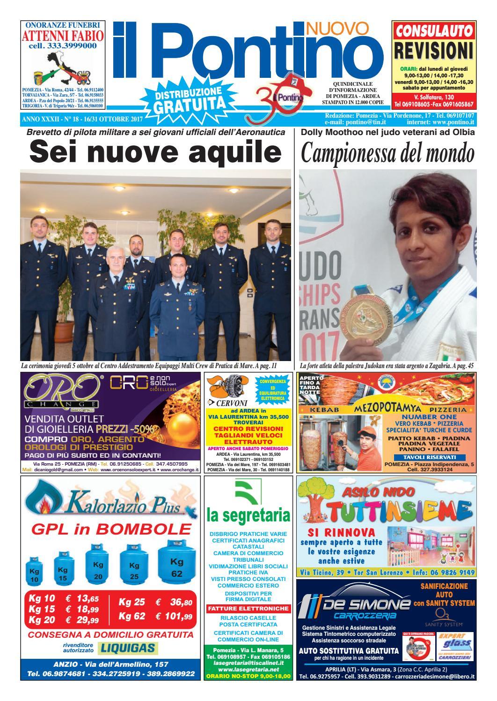 Il Pontino Nuovo - Anno XXXII - N. 18 - 16 31 Ottobre 2017 by Il Pontino Il  Litorale - issuu 15425113ed2b
