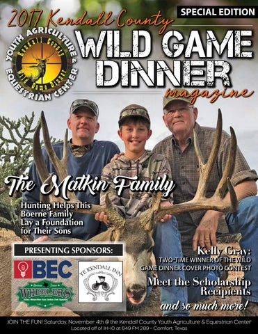 2017 Kendall County Wild Game Dinner Magazine By
