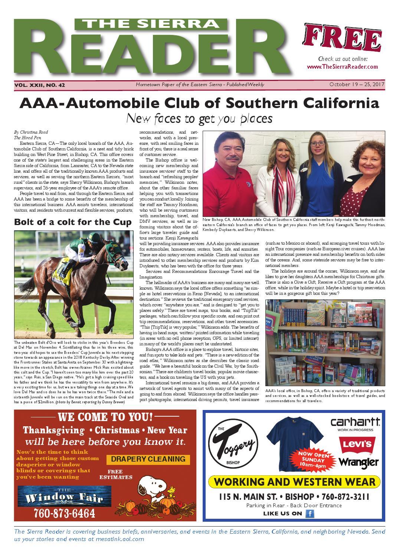 the sierra reader october 19 by The Sierra Reader - issuu
