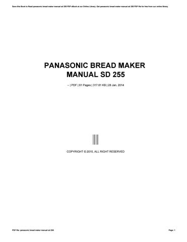 Panasonic automatic bread maker sd bt56p recipe by luke issuu cover of panasonic bread maker manual sd fandeluxe Choice Image
