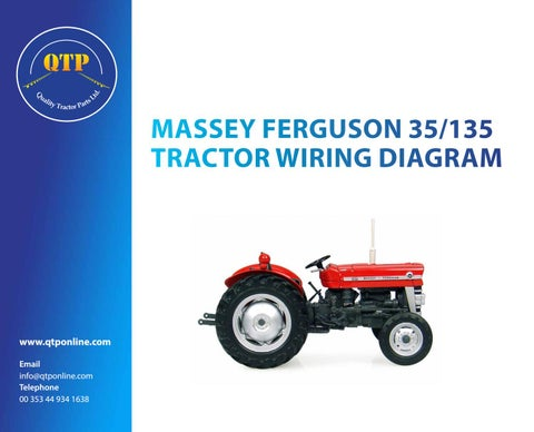 35 135 wiring diagram by quality tractor parts issuu massey ferguson 35 135 tractor wiring diagram