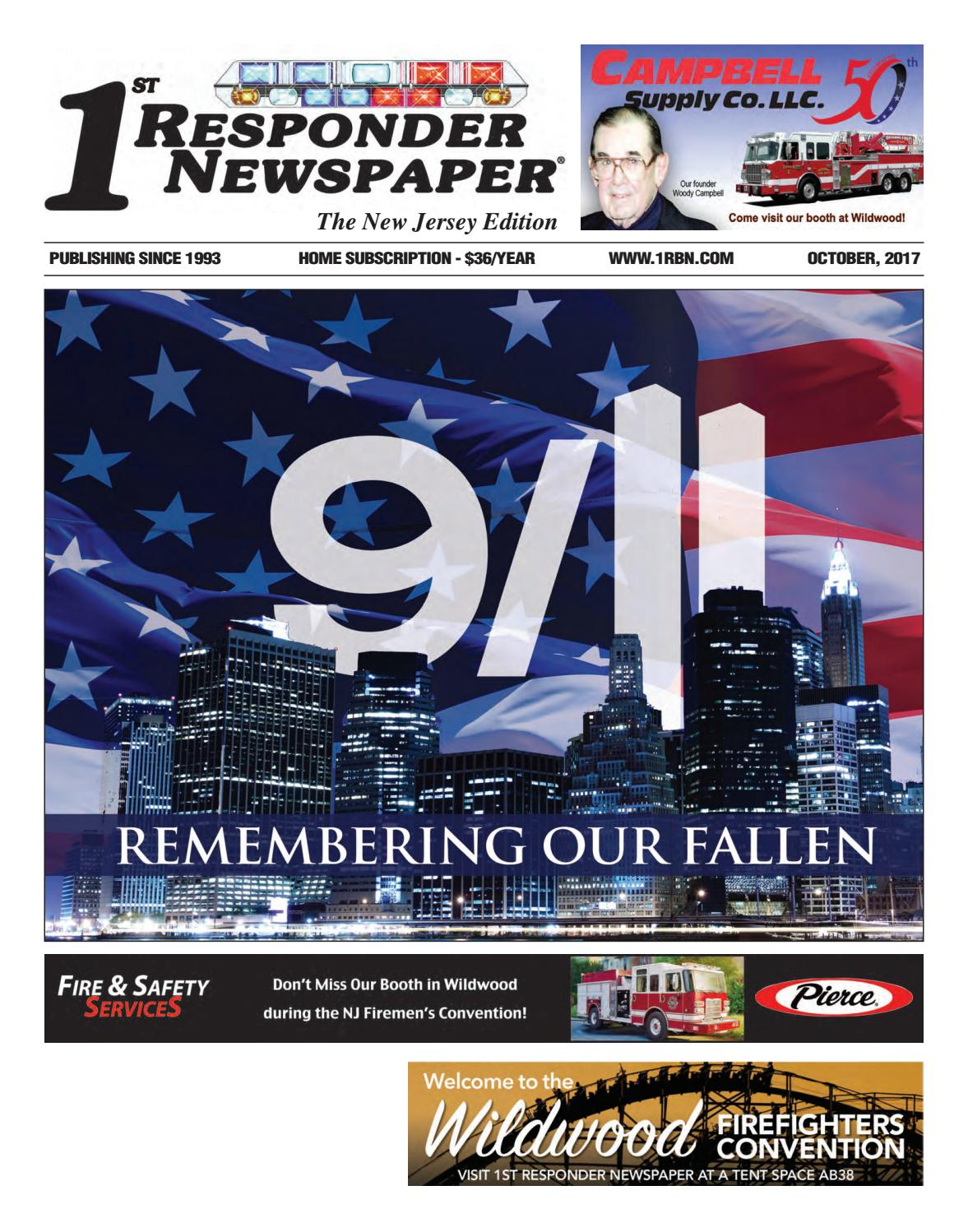 1st Responder New Jersey October Edition by Belsito Communications