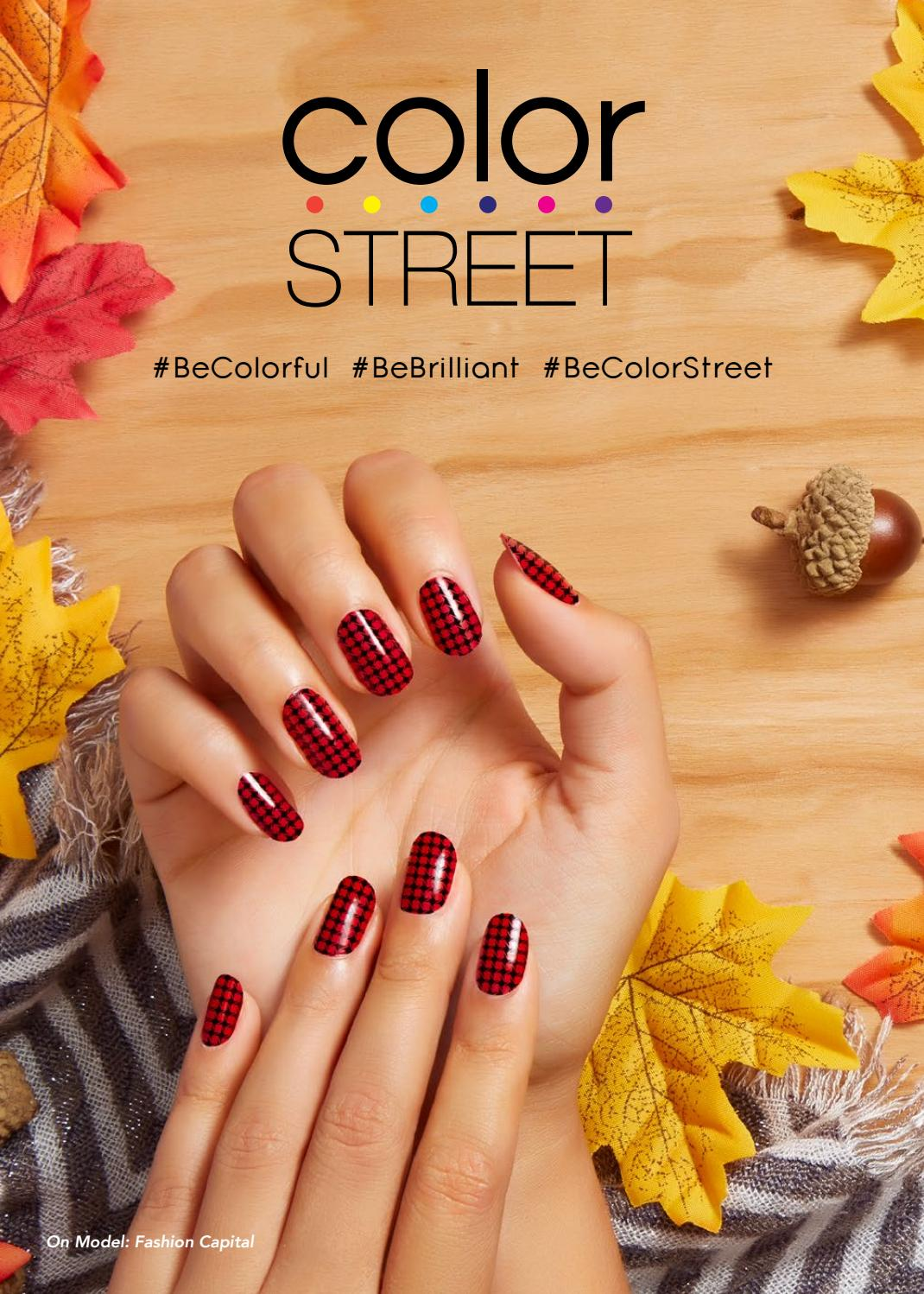 Color Street Fall 2017 Catalog By Heather Stclair Issuu