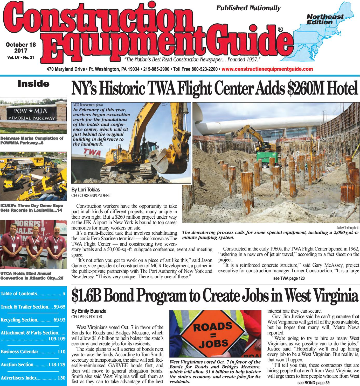 Northeast 21 October 18, 2017 by Construction Equipment