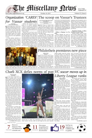 Page 1. The Miscellany News