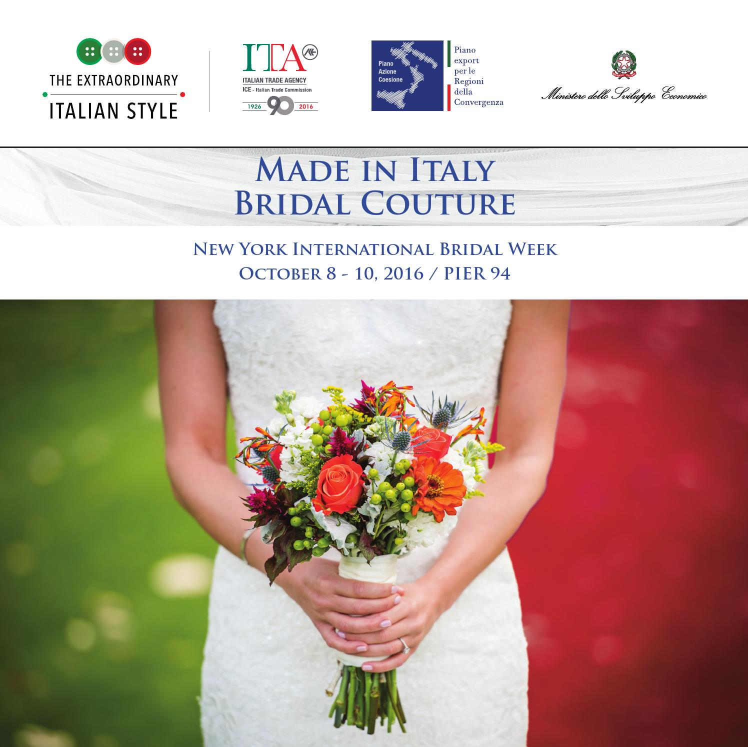 Bouquet Sposa Economico Roma.Italian Trade Commission Bridal 0ct 2016 By Marc Littell Issuu