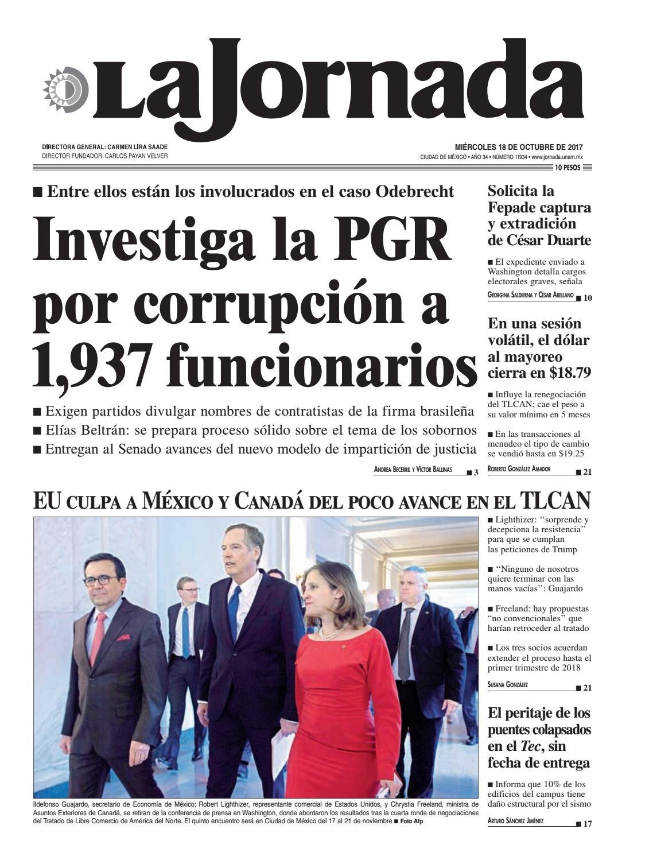 La Jornada, 10/18/2017 by La Jornada: DEMOS Desarrollo de Medios SA ...