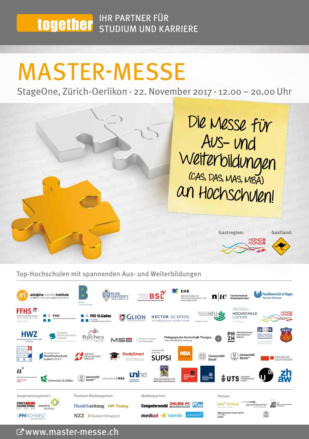 Messe-Guide Master-Messe 2017 by together ag - issuu