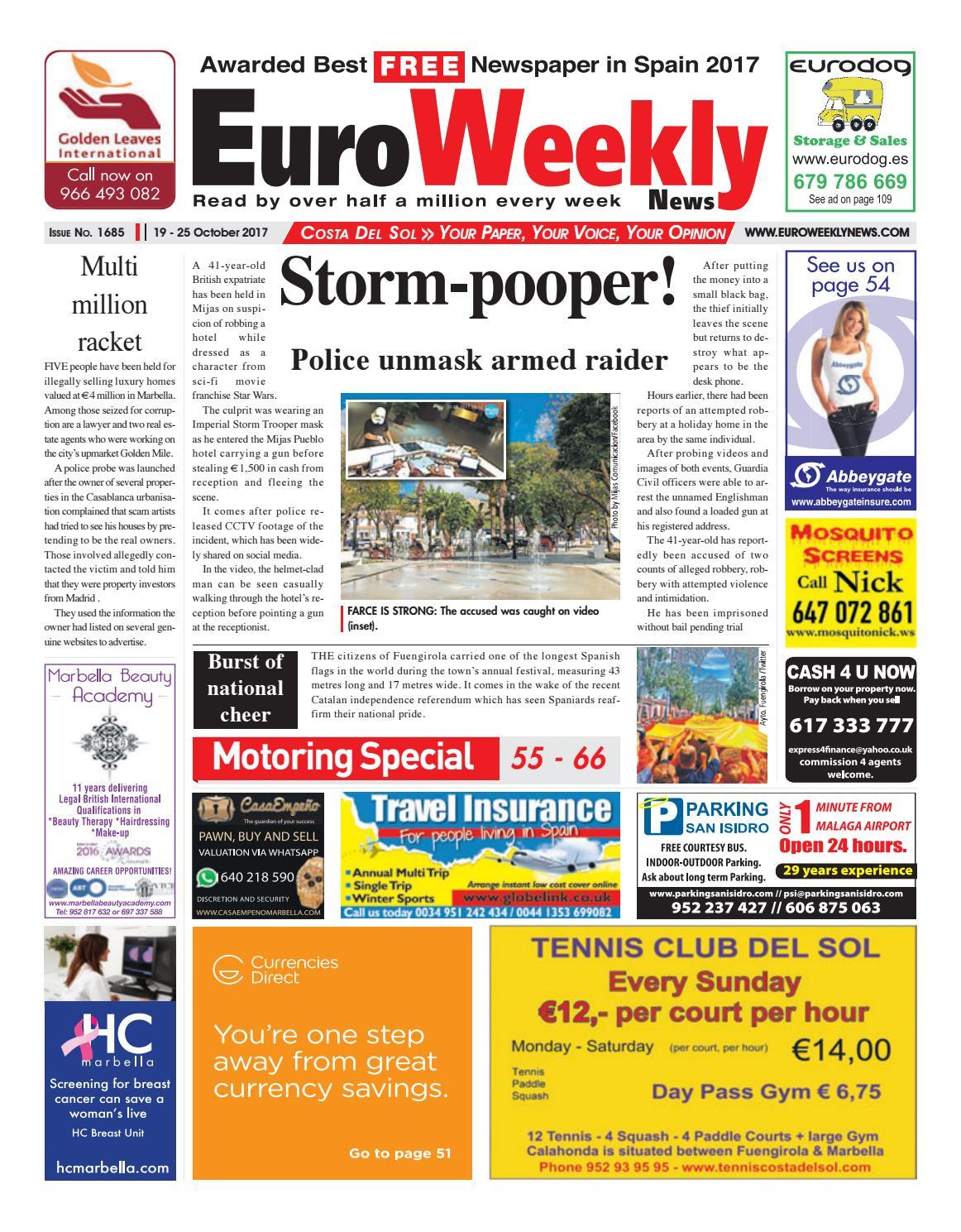 fa4e439e69fb Euro Weekly News - Costa del Sol 19 – 25 October 2017 Issue 1685 by ...