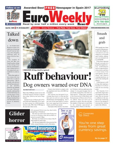 Euro Weekly News Axarquia 19 25 October 2017 Issue 1685
