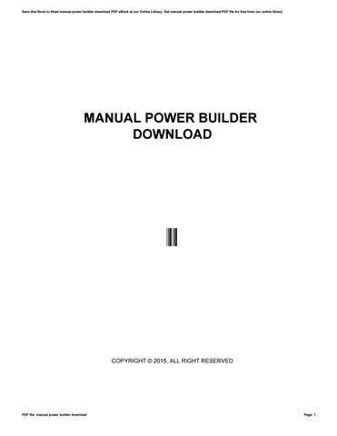 manual power builder download by jaka87ngabare issuu rh issuu com power builder manual español powerbuilder menu inheritance