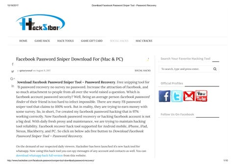 How to spy facebook account chat and password cracker by Hacksiber