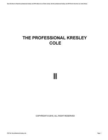 The Professional Part 2 Kresley Cole Pdf