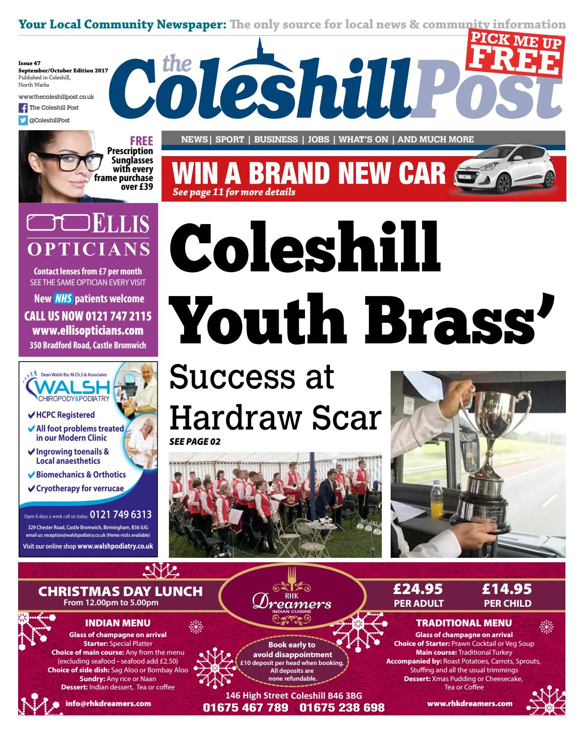 Coleshill Post Sept/Oct 2017 by Post Group Midlands Ltd - issuu