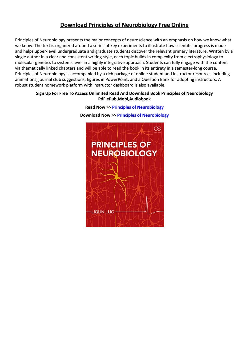 Principles Of Neurobiology By Mkiytredw Issuu