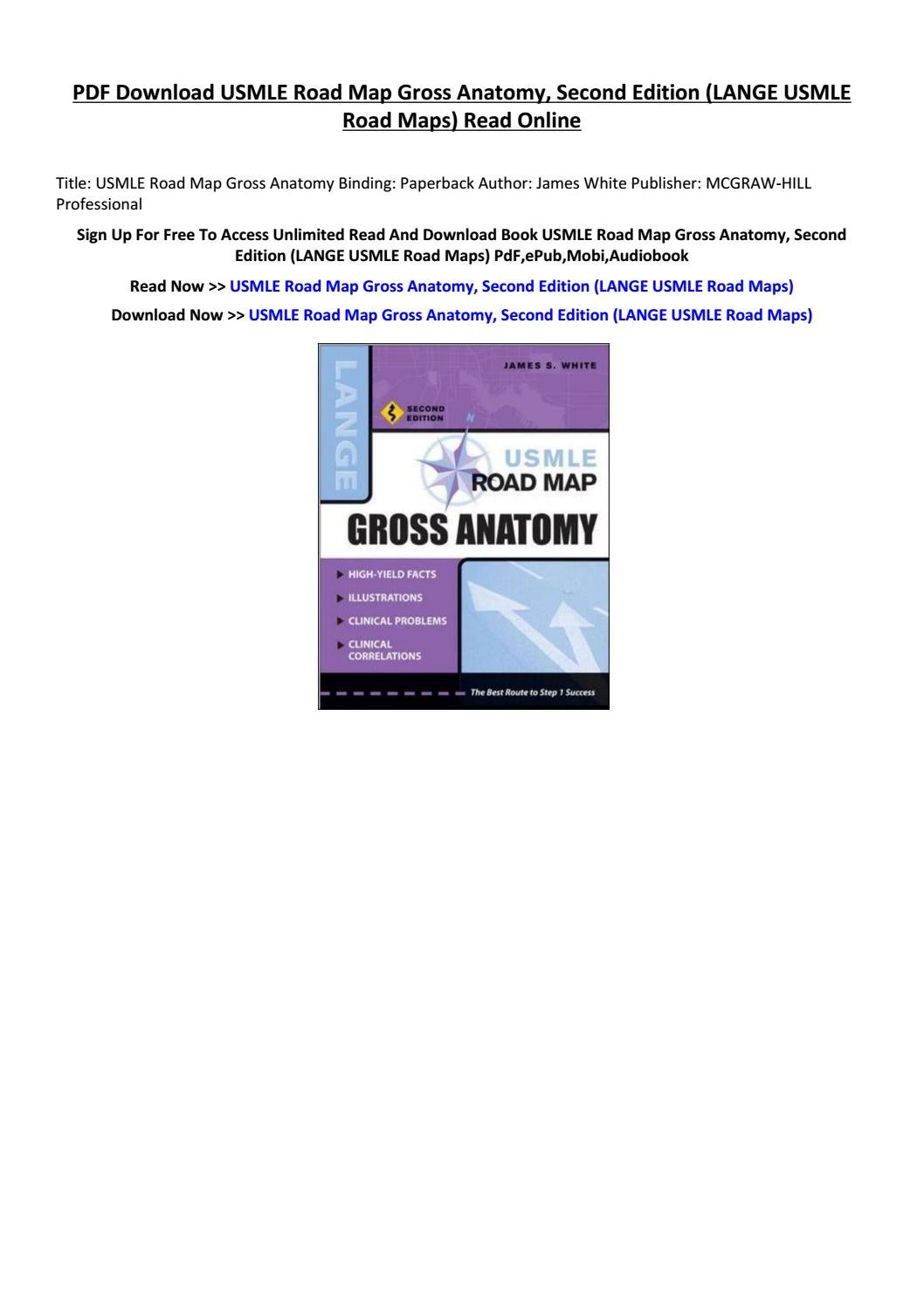Usmle Road Map Gross Anatomy By Mkiytredw Issuu