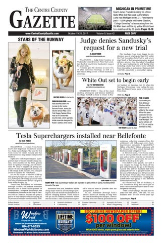Centre County Gazette, October 19, 2017 by Indiana Printing ... f3edec409c4b