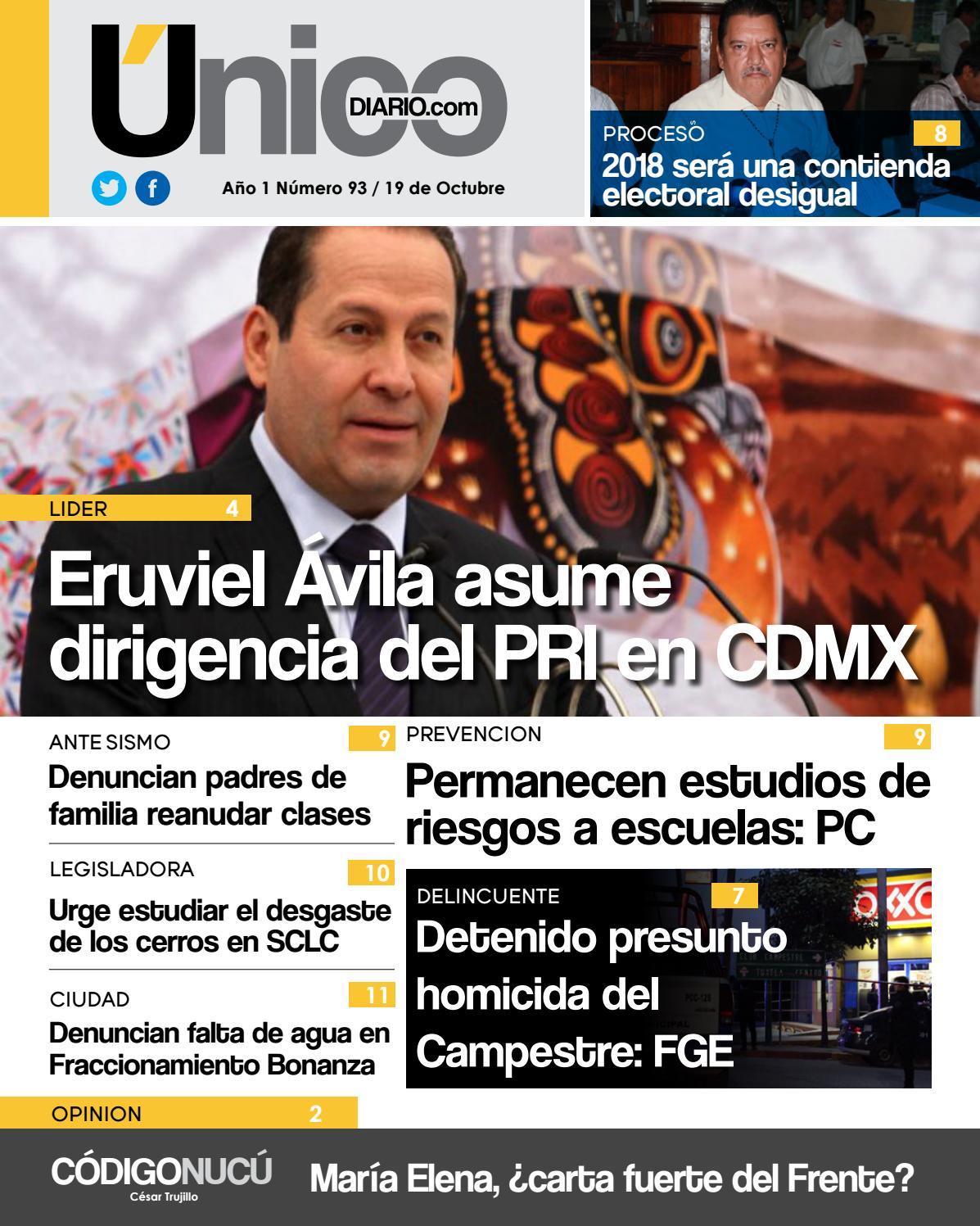 Edicion 19 de Octubre/2017 by Único Diario Chiapas - issuu
