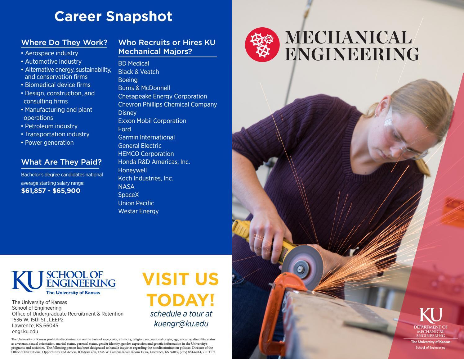 Ku engineering mechanical engineering guide(2017 2018) by KU