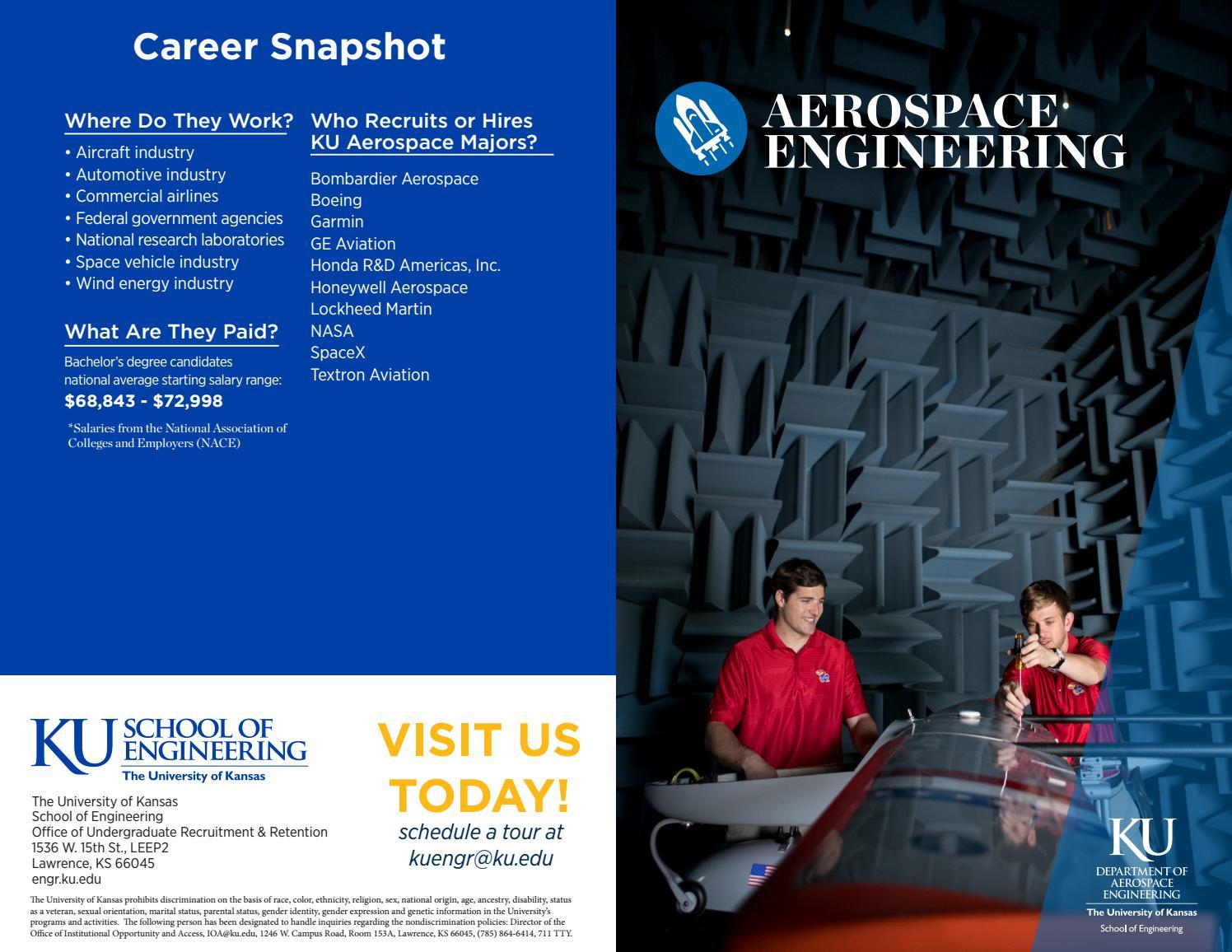 Ku engineering aerospace engineering guide(2017 2018) by KU