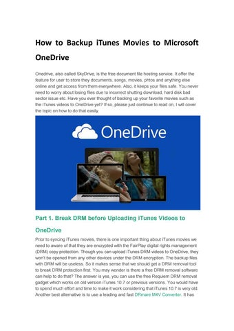 How to backup itunes movies to microsoft onedrive by Ava