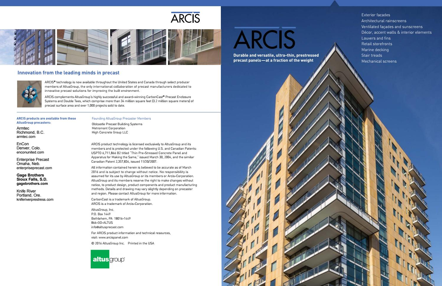 ARCIS Brochure by Gage Brothers - issuu