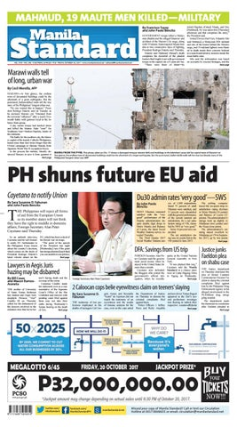 Manila Standard - 2017 October 20 - Friday