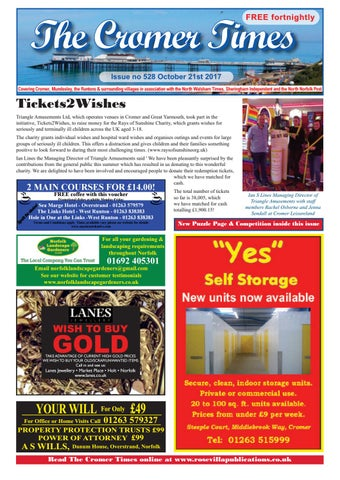 Cromer times 528 by eric hayton issuu page 1 solutioingenieria Choice Image