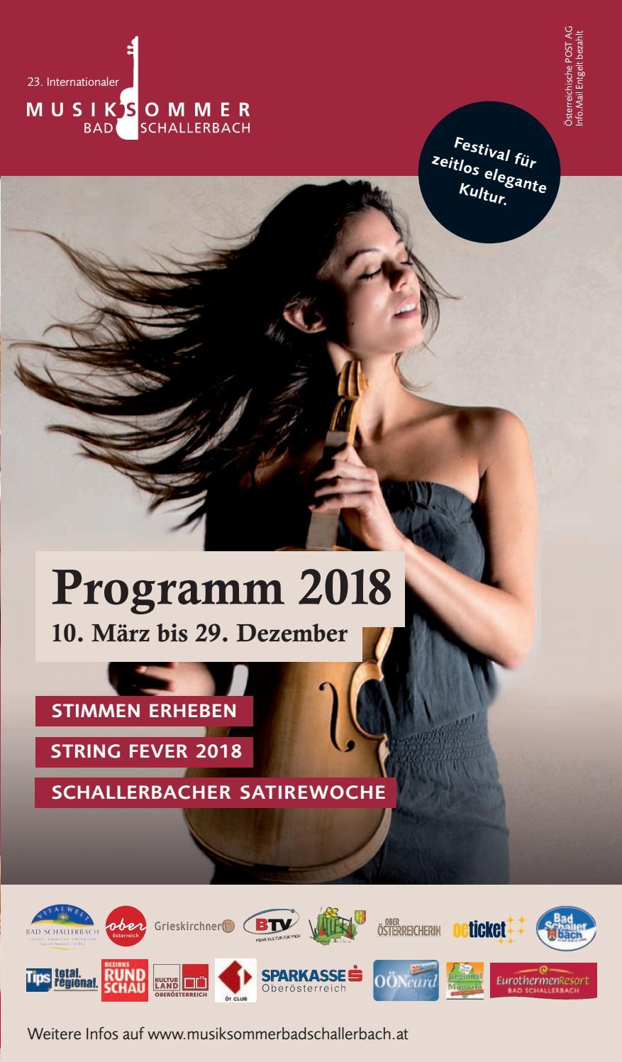 Musiksommer 2018 Programm By Tourismusverband Vitalwelt Issuu
