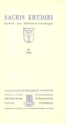 Sacris erudiri volume 22 number 2 1974 1975 by Mediaevii Studiosus - issuu