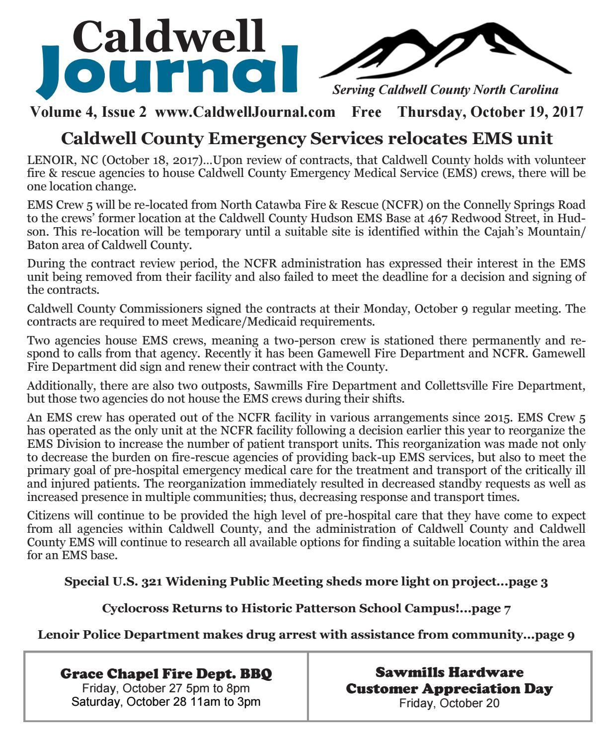Caldwell Journal 10 19 2017 by Caldwell Journal - issuu