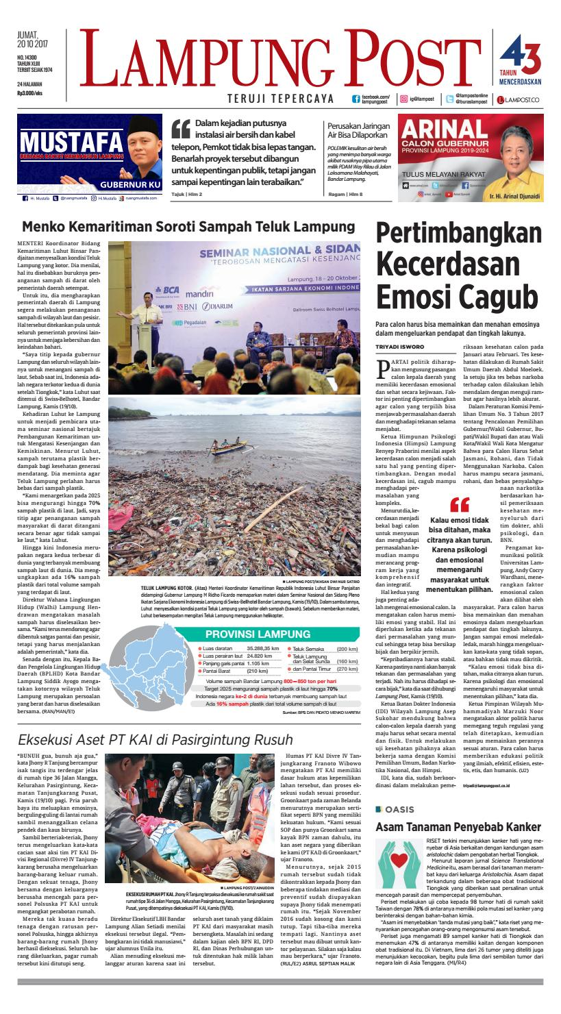 Lampung Post Jumat 20 Oktober 2017 By Issuu Produk Ukm Bumn Sulam Usus Pmk