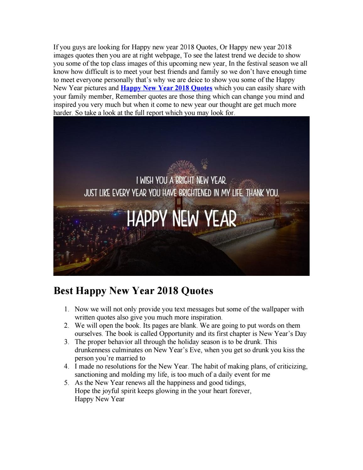 latest happy new year 2018 quotes wishes by happy new year 2018 quotes issuu