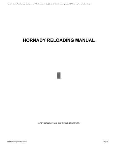 Reloading Manual Pdf