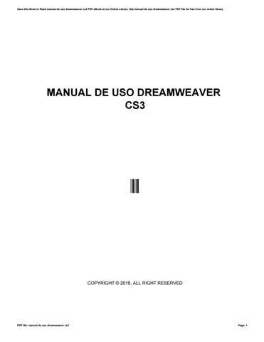 Adobe Dreamweaver Cs3 Tutorial Pdf