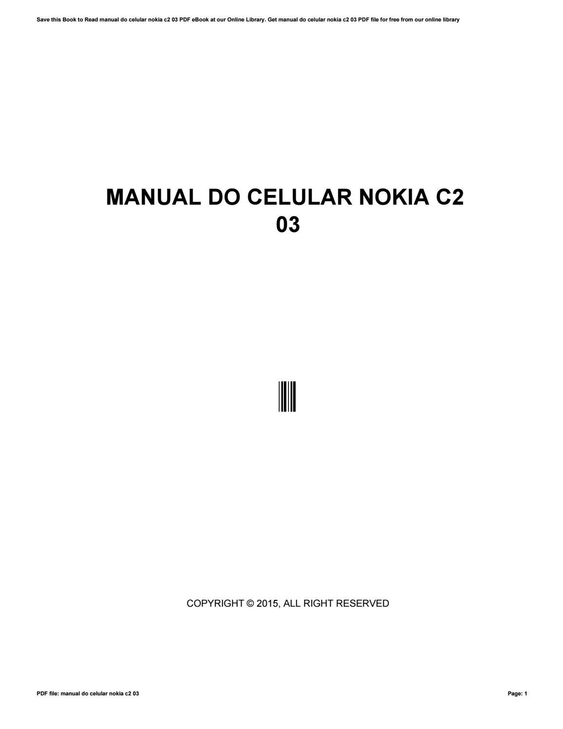 Manual do celular nokia c2 03