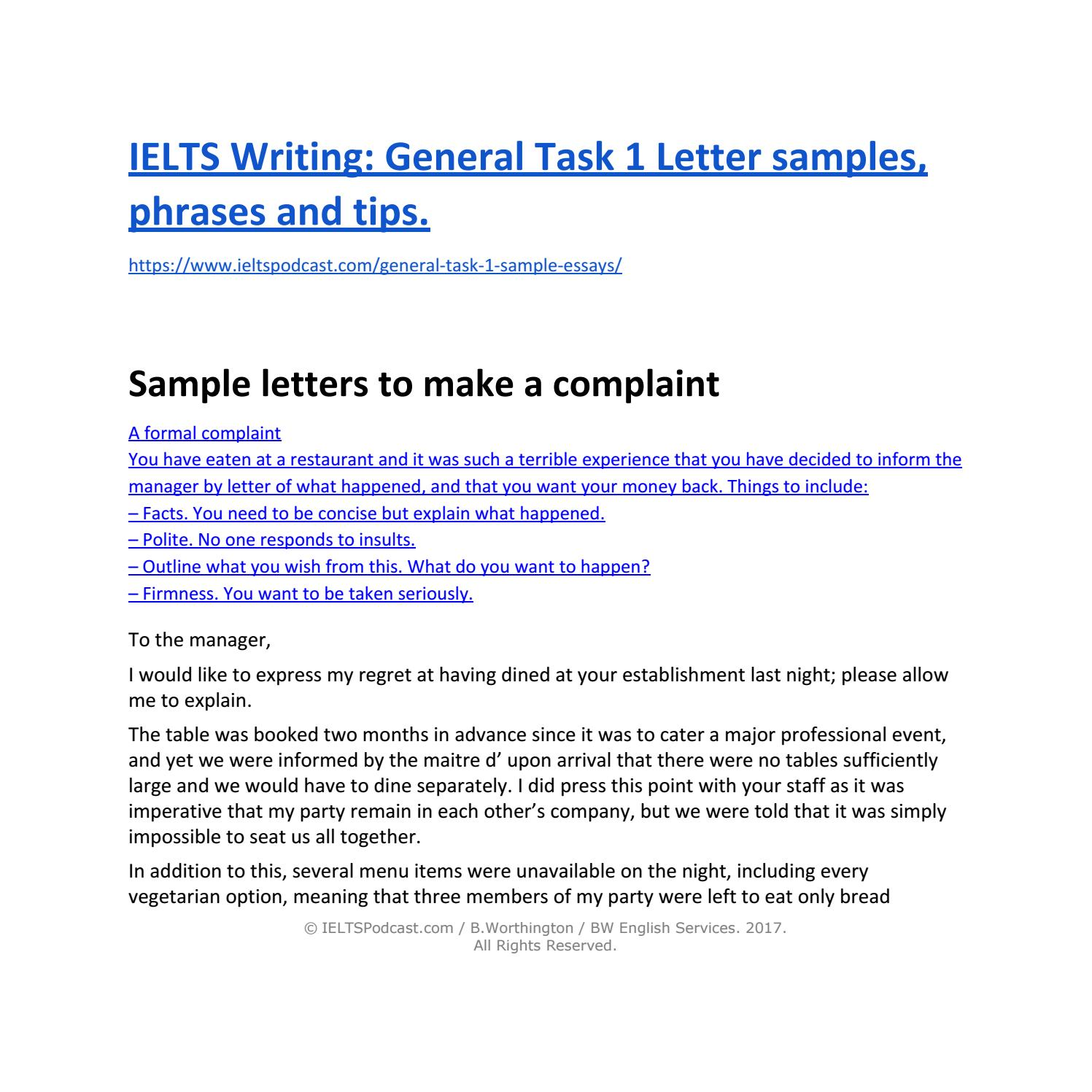 Ielts writing general task 1 sample letters and phrases by ielts ielts writing general task 1 sample letters and phrases by ielts general issuu spiritdancerdesigns Image collections