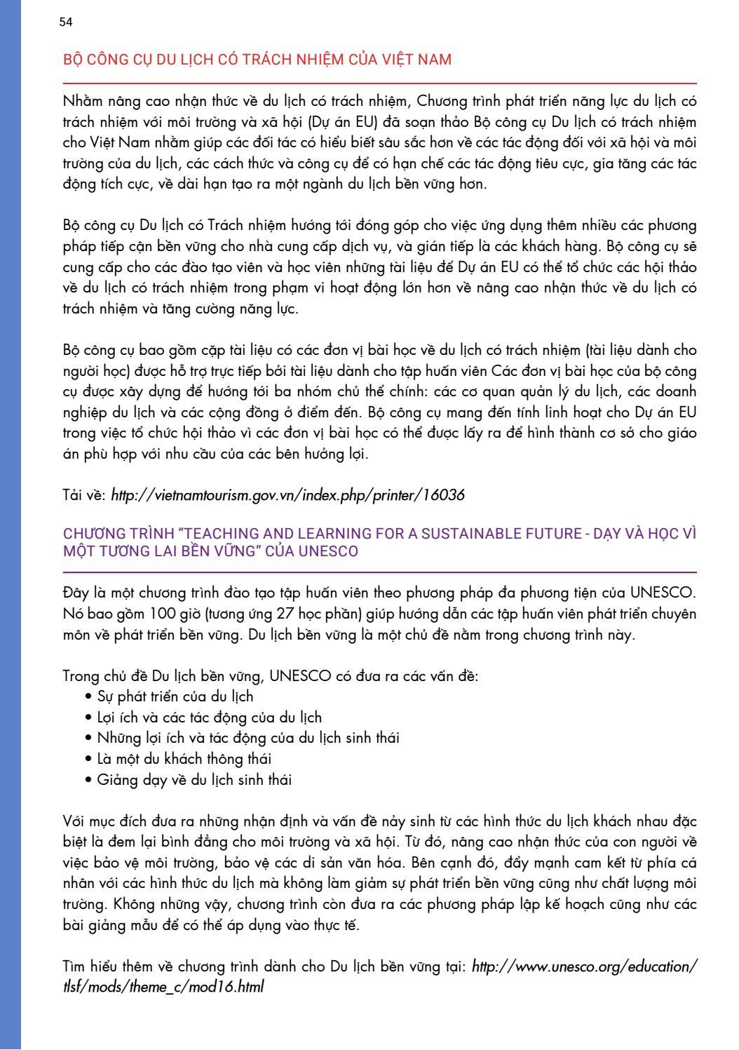 [Tài liệu LSST] Du lịch có trách nhiệm page 54