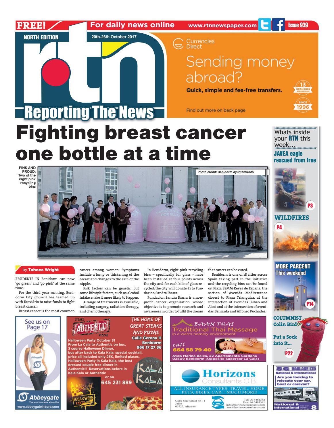 Rtn Newspaper Costa Blanca North 20 26 October 2017 Issue 939 By Koas Masker Mr Euro Weekly News Media Sa Issuu
