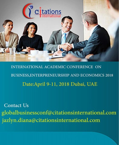 Business Conferences|Academic Business Conference 2018